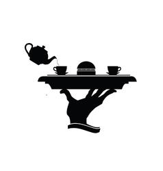 hot drink in black vector image