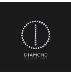 I letter with diamonds vector