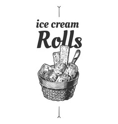 Ice cream rolls vector