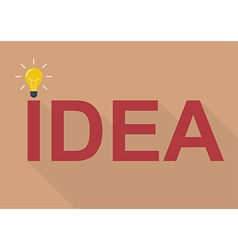 Idea concept flat style vector image