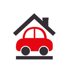Insurance vehicle travel isolated icon vector