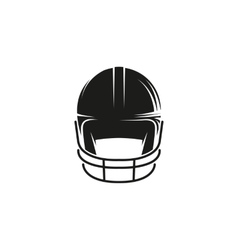 Isolated abstract black color baseball helmet logo vector