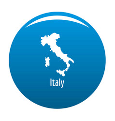 italy map in black simple vector image