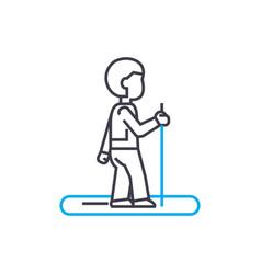 jogging linear icon concept jogging line vector image