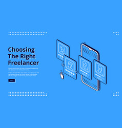 landing page service for review freelancers vector image