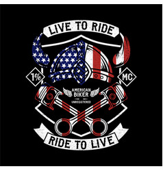 Live to ride ride to vector