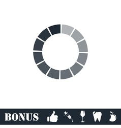 Load bar icon flat vector image