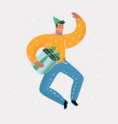 man jump at party vector image