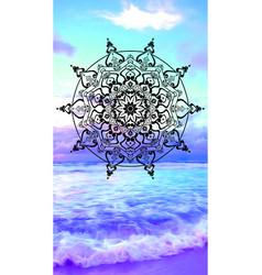 mandala entangle vector image