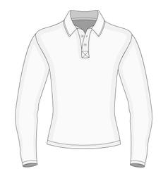 Mens long sleeve polo shirt vector image