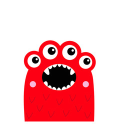 Monster screaming face head icon happy halloween vector