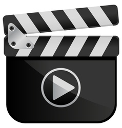 Movie Media Player Film Slate vector image