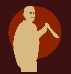 Murder with a knife vector
