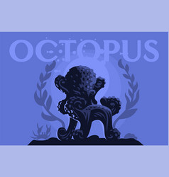 octopus in the form of a chair vector image