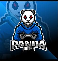 Panda gamers esport mascot logo vector