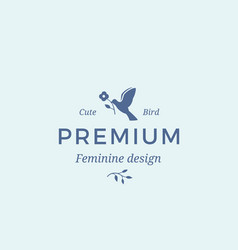 premium quality feminine abstract sign vector image