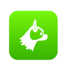 pug dog icon digital green vector image