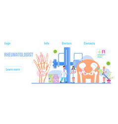 Rheumatoid arthritis tiny doctors treat vector