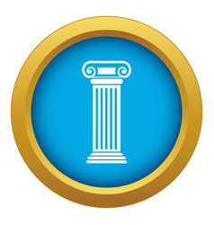 roman column icon blue isolated vector image