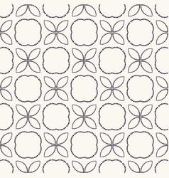 Seamless pattern hand drawn petal flower trellis vector
