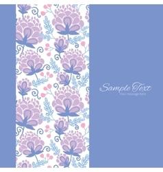 soft purple flowers vertical frame seamless vector image