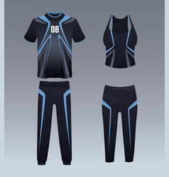 Sport wear for athletes vector