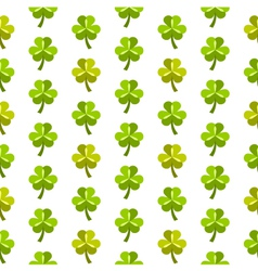 St patrick day seamless pattern with shamrocks vector image