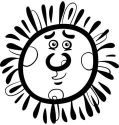 sun cartoon coloring page vector image