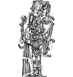 Tall Maya vector