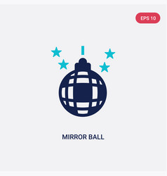 Two color mirror ball icon from discotheque vector
