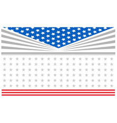us flag patriotic holiday frame poster vector image