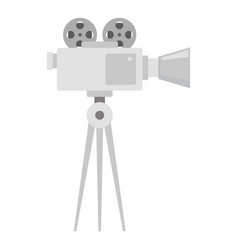video film camera icon flat style vector image