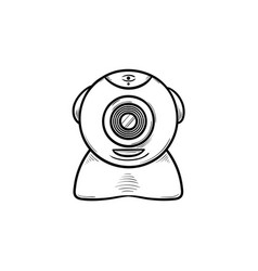 web camera hand drawn outline doodle icon vector image