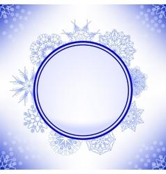 Winter snow label vector
