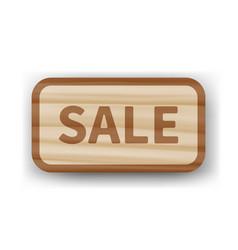 wooden vintage board with inscription sale vector image