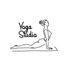 Yoga studio simple signboard poster vector