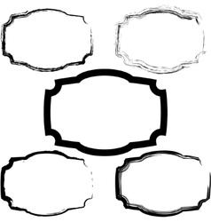 Old frames vector image