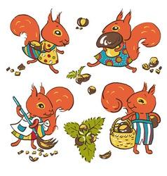 Squirrels vector image vector image