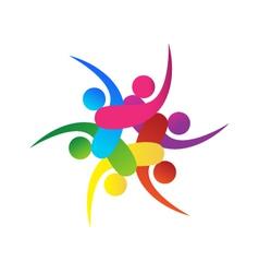 Teamwork 6 swooshes logo vector
