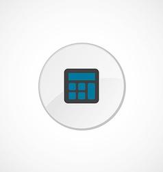 calculator icon 2 colored vector image