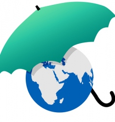 earth protected vector image