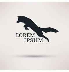 Geometric fox symbol icon design Logo design vector image