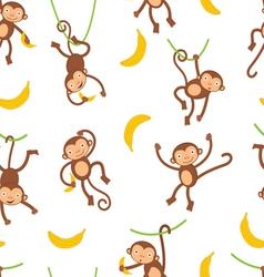 Monkey pattern vector image vector image