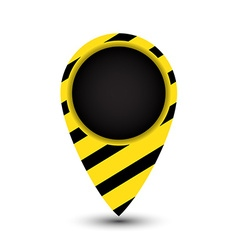Tag map of the world with yellow and black stripes vector