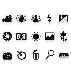 Collection of dslr camera symbol vector