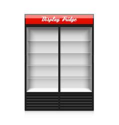 Double glass sliding door display fridge vector image vector image