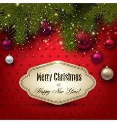 Gorgeous christmas gift card with christmas vector