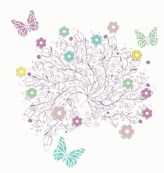 Greeting background with lace vector image
