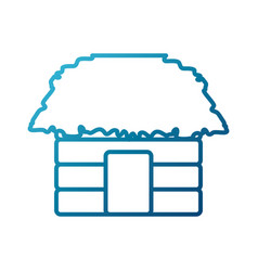 hut house building vector image vector image