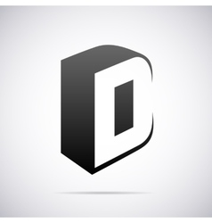 logo for letter D Design template vector image vector image